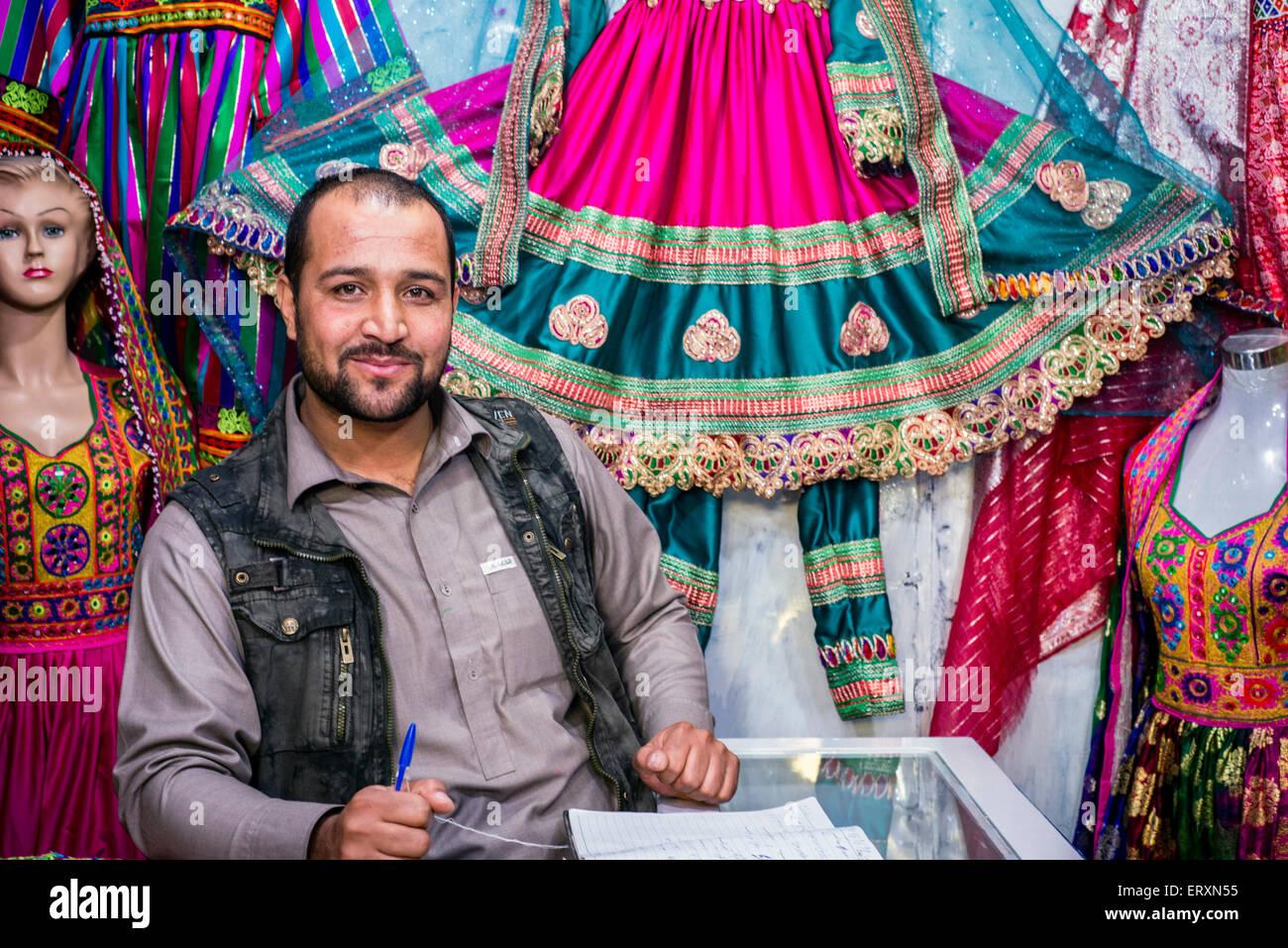 Traditional Afghan Wedding Dress Designer In His Workshop