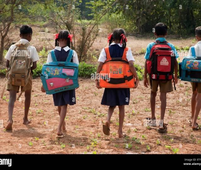 Students Of Village School In Maharashtra India Stock Image