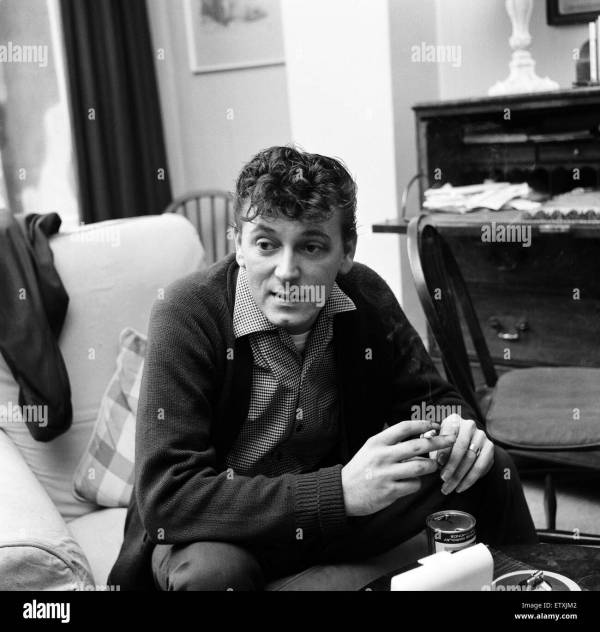 Gene Vincent pictured at his home in Notting Hill, London ...