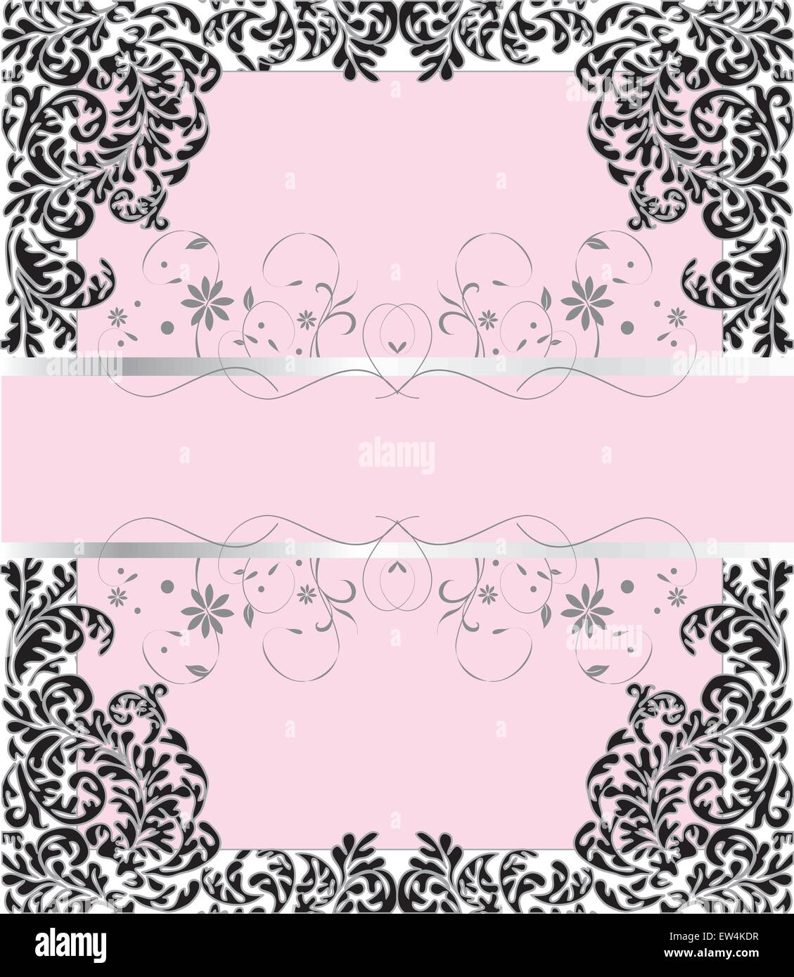 https www alamy com stock photo vintage invitation card with ornate elegant retro abstract floral 84310963 html