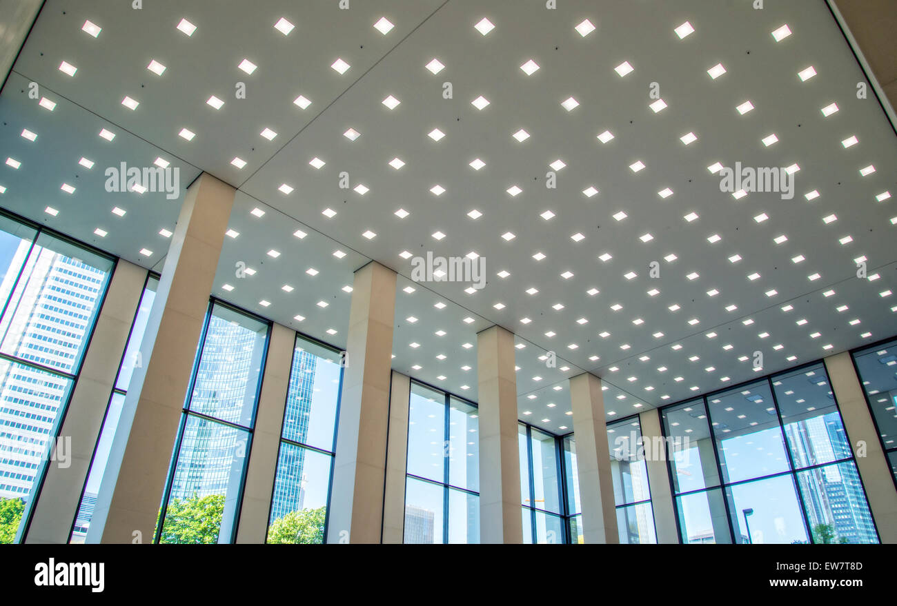https www alamy com stock photo led lighting in the lobby of a office building in frankfurt 84380589 html