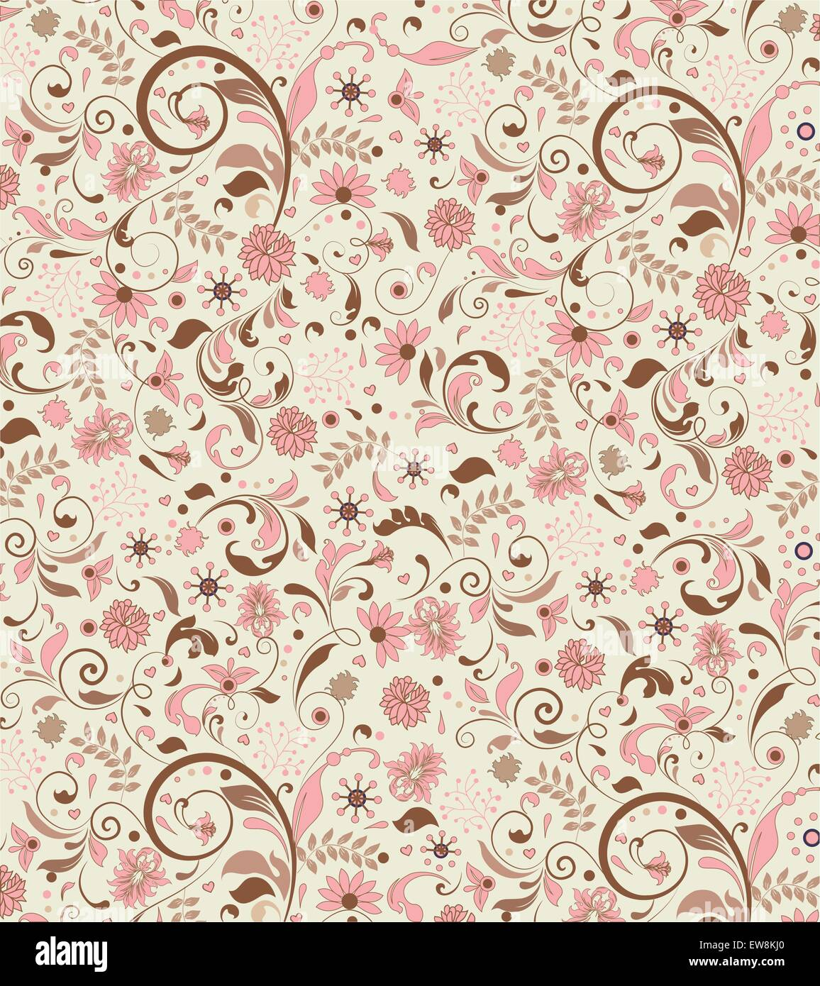 Vintage Background With Ornate Elegant Abstract Floral