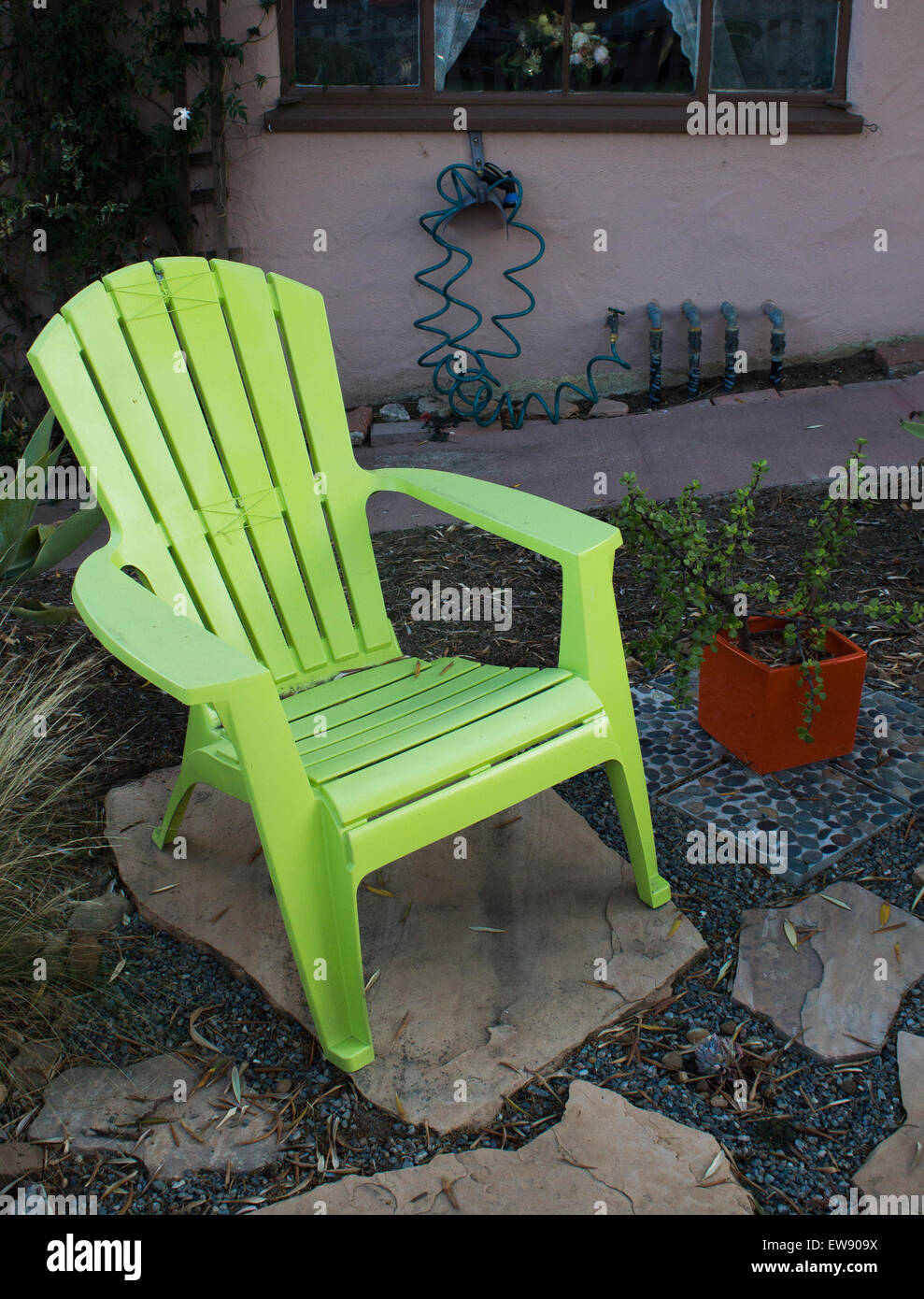 https www alamy com stock photo lime green patio chair 84405718 html