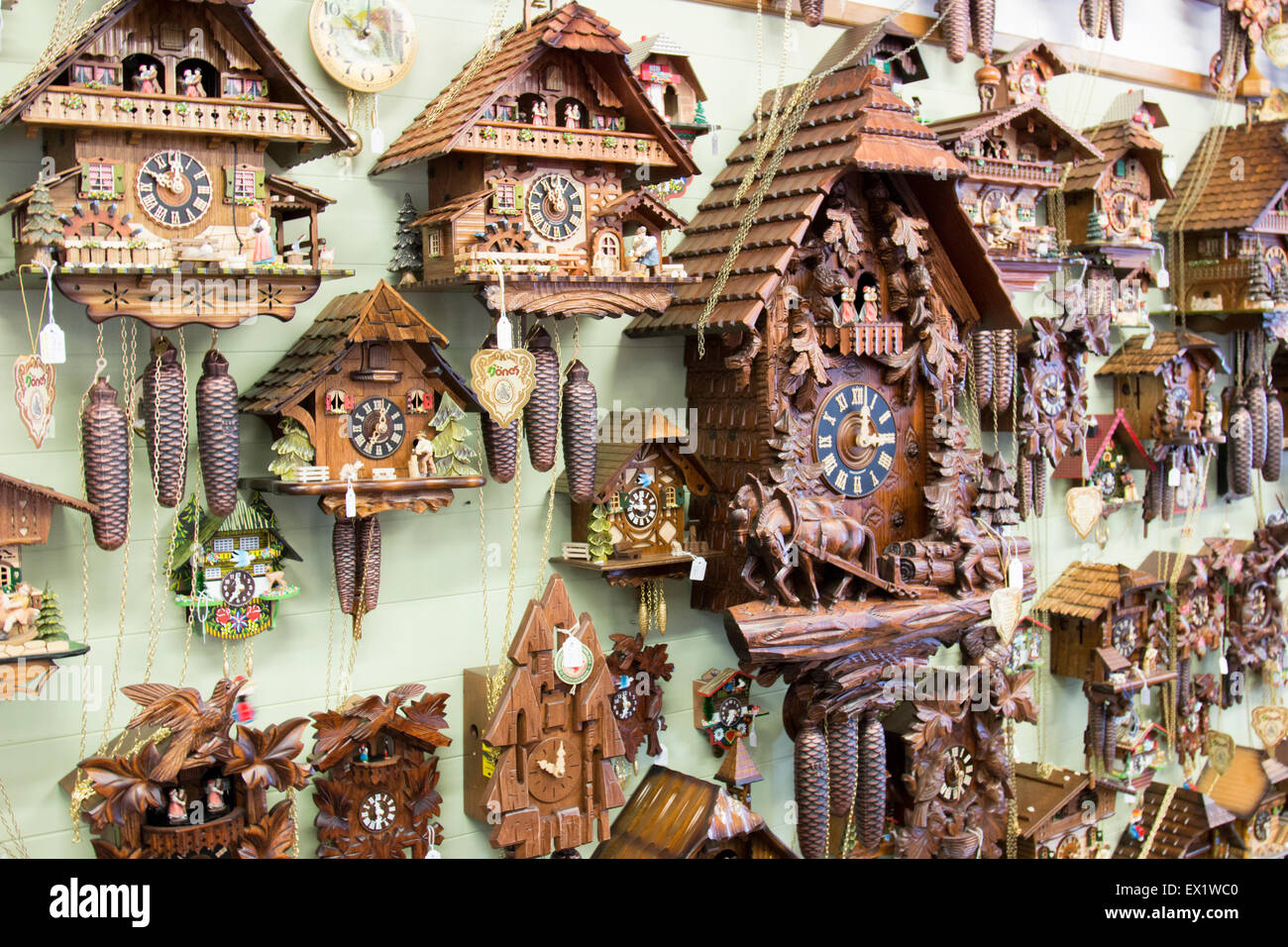 Cuckoo Clocks For Sale In A Store In The Regional New South Wales Stock Photo Alamy