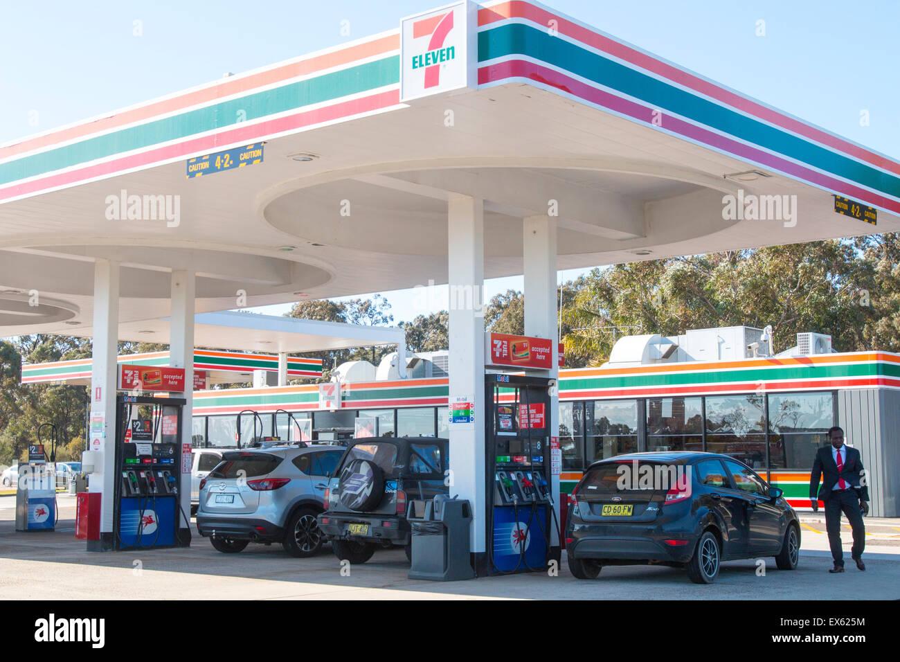 7 Eleven Branded Petrol Station At Pheasants Nest Service