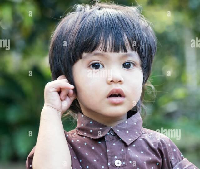 Portrait Of Asian Thai Cute Little Boy
