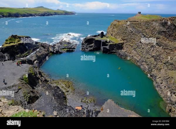 Abereiddy on the north Pembrokeshire coast, location of ...