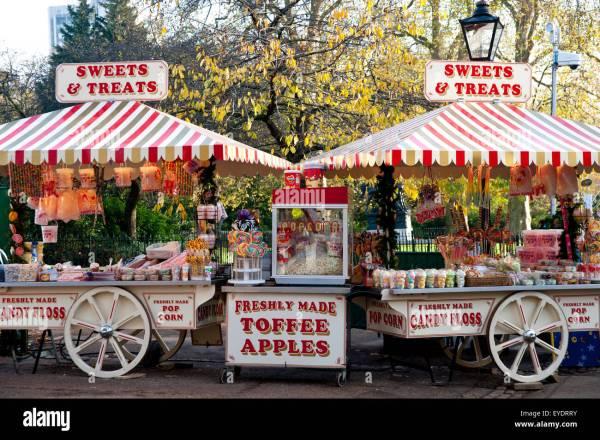 Candy Shop In Hyde Park, Winter Wonderland, London, Uk ...