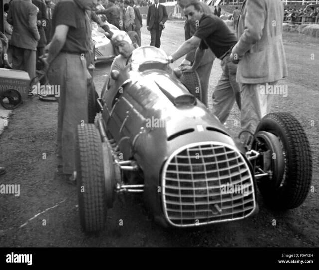 Ascari Ferrari Pits Belgian Grand Prix  Stock Image