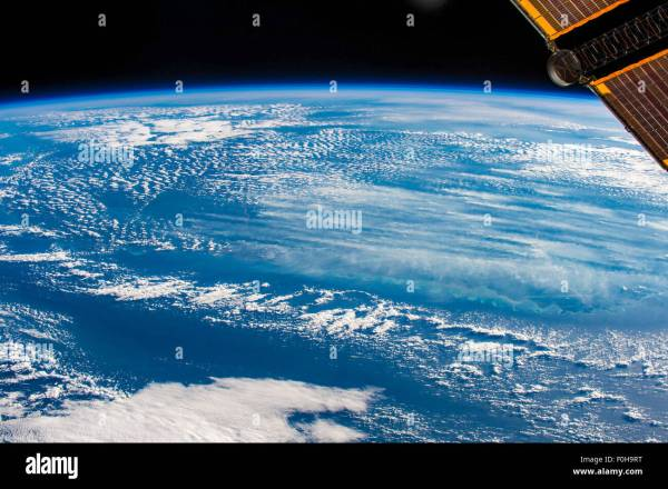 Planet Earth and view from the International Space Station ...