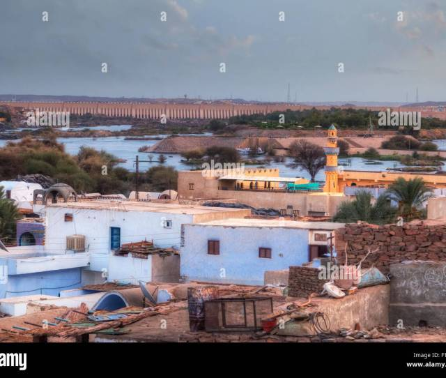 Nubian Village Aswan Low Dam Egypt Africa