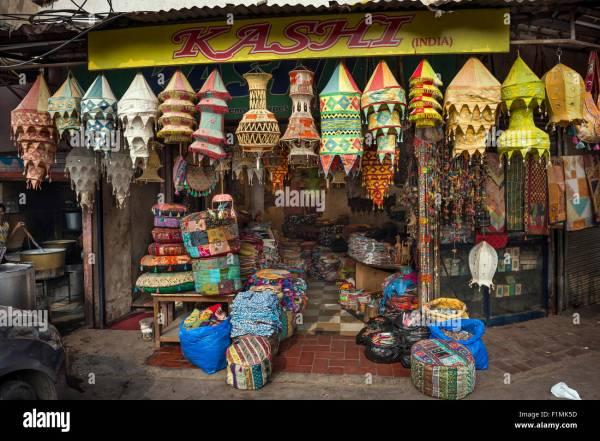 Lightshade and lantern shop near Main Bazaar in the ...