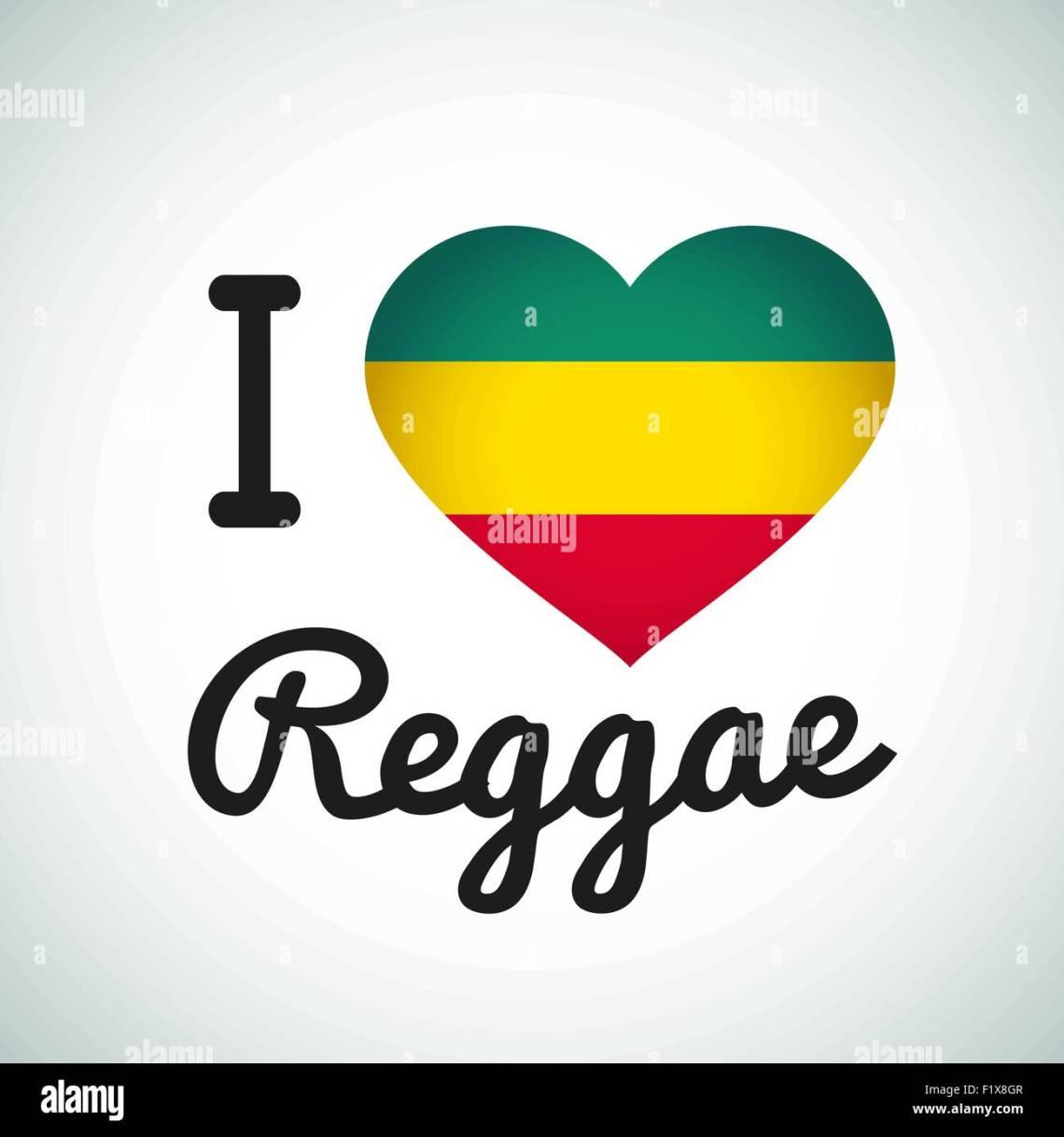 Download I love Reggae Heart illustration, Jamaican music logo ...