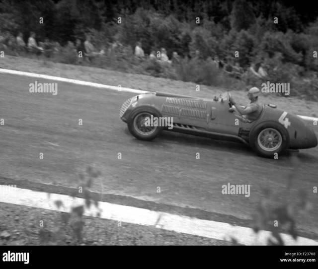 Alberto Ascari In A Ferrari  In The Belgian Gp Spa  Stock Image