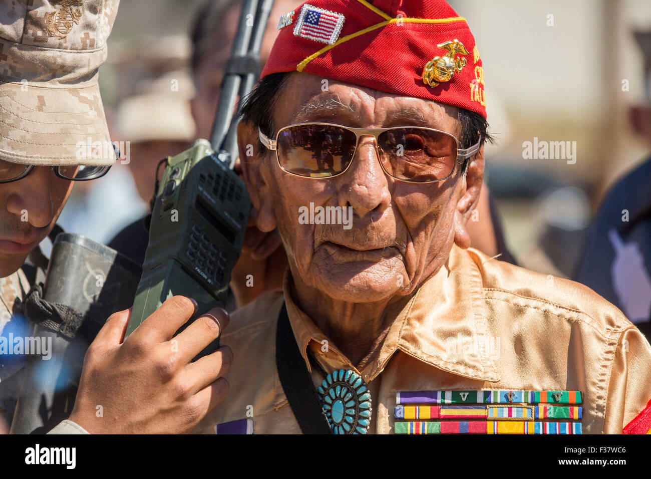 Retired Marine Corps Navajo Code Talker Samuel Holiday