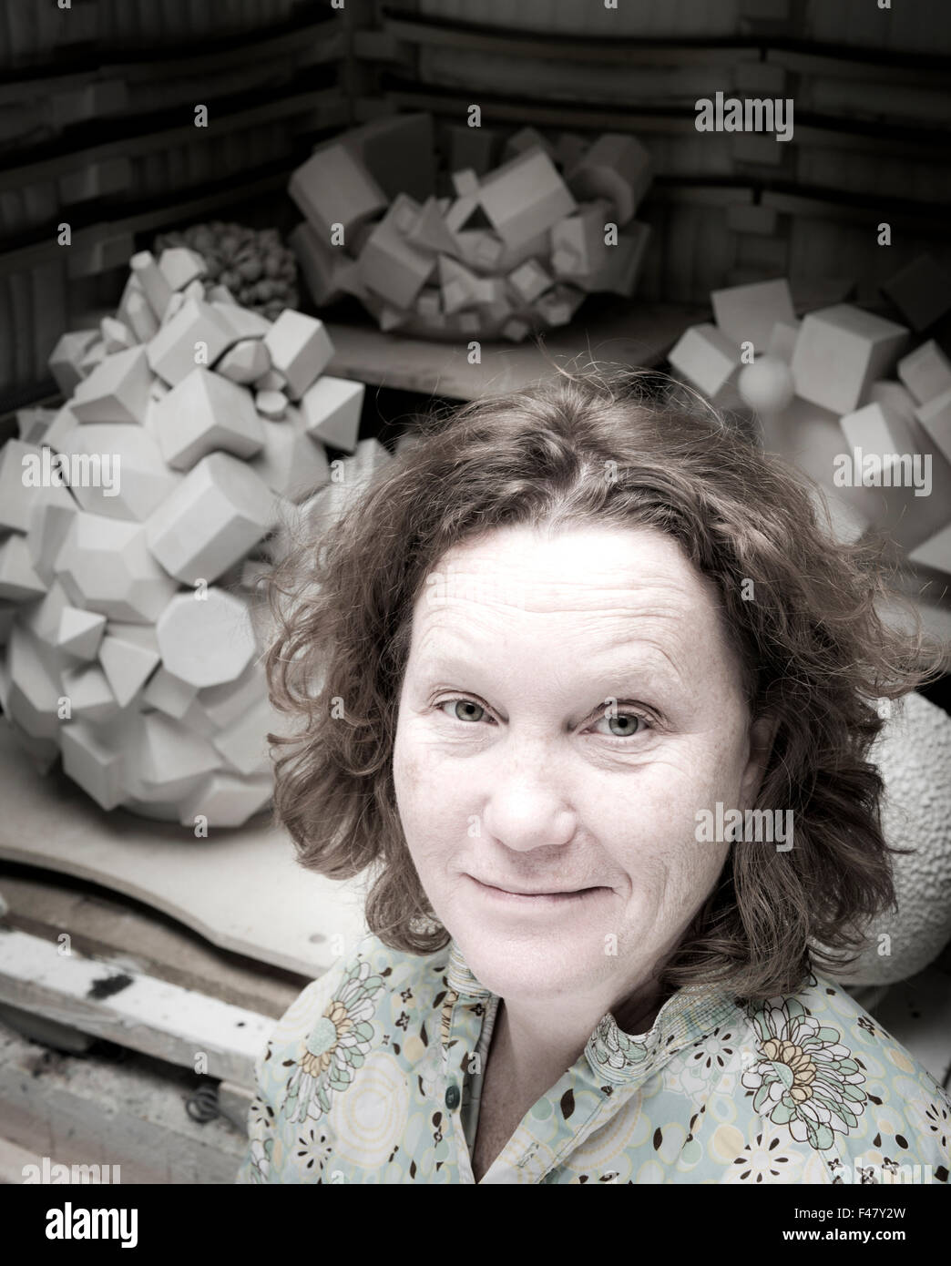 Ceramicist Kate Malone In Her Studio In Hackney London