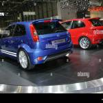 Ford Fiesta St Road Car And Fiesta Rs Concept Car Shown At The 2004 Stock Photo Alamy