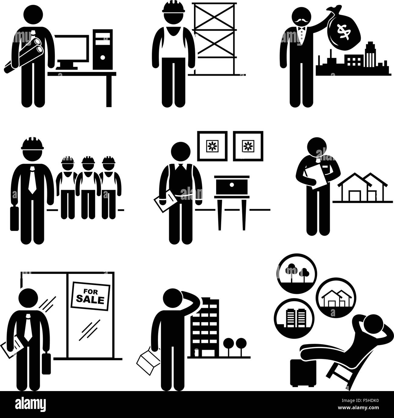 Occupations And Work Stock Vector Images