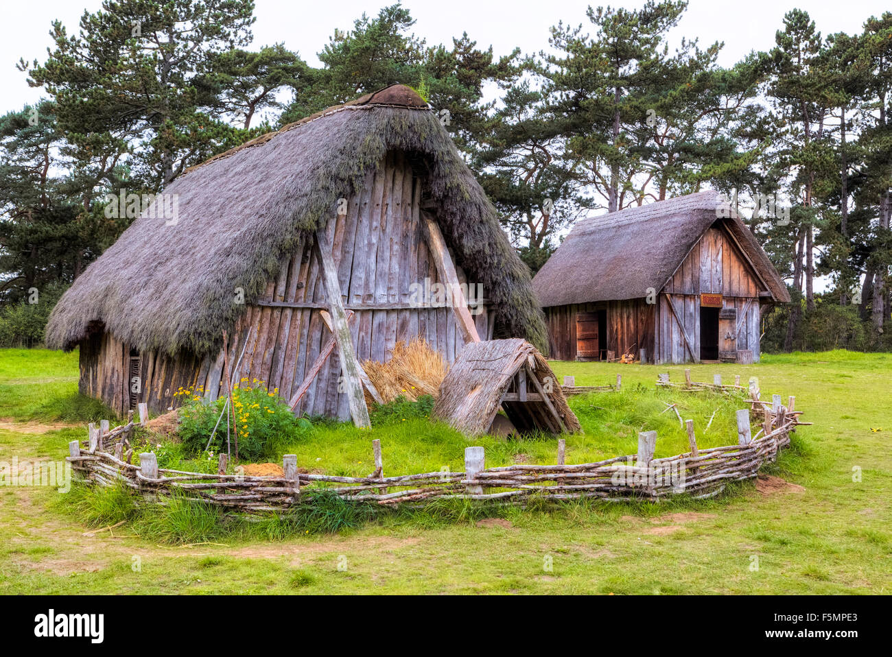 Anglo Saxon Village West Stow Suffolk England United