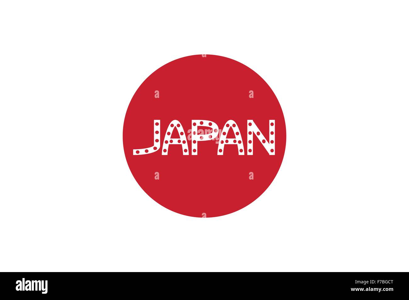 Japanese Flag And Word Japan Stock Vector Art Amp Illustration Vector Image