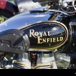 Royal Enfield Motorbike Tank Decal Badge At A Show Ground In England Stock Photo Alamy