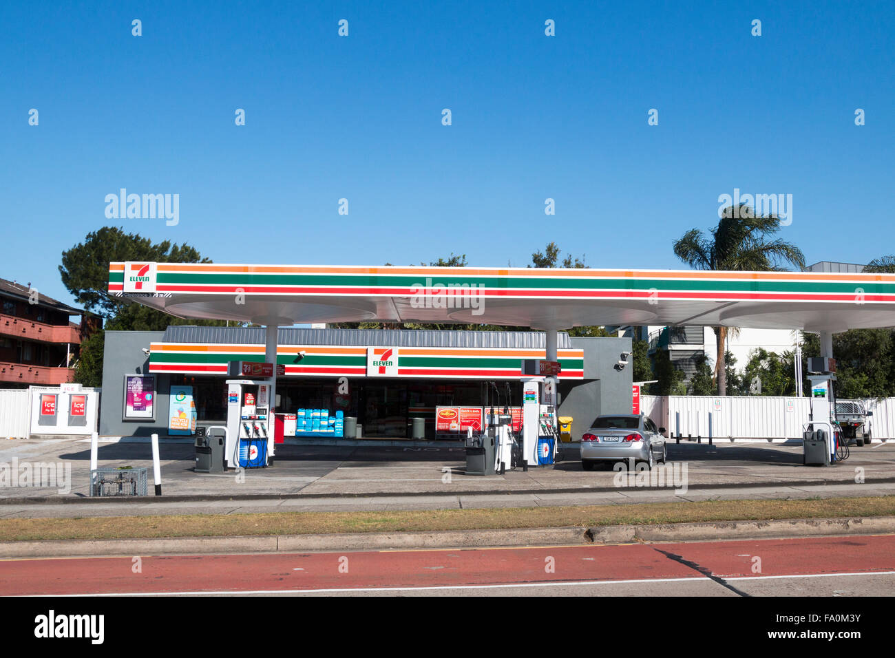 7 Eleven Petrol Fuel Gas Station In Dee Why Suburb Of Sydney On The Stock Photo