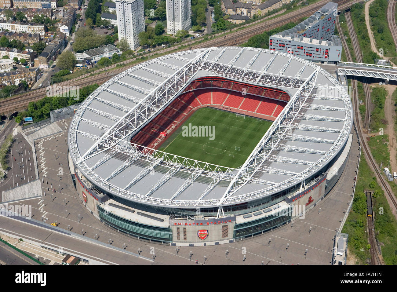 https www alamy com stock photo emirates stadium arsenal london aerial view opened in july 2006 as 92366085 html