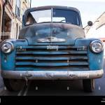 Front View Of A Blue 1950 Chevrolet Pickup Truck Stock Photo Alamy