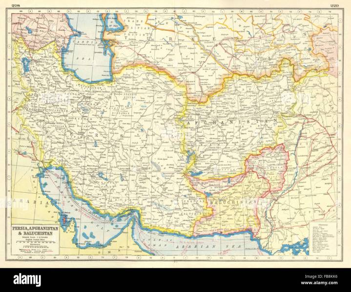 Pakistan South Asia Map Stock Photos   Pakistan South Asia Map Stock     SOUTH WEST ASIA  Persia Afghanistan Baluchistan Pakistan British India   1920 map