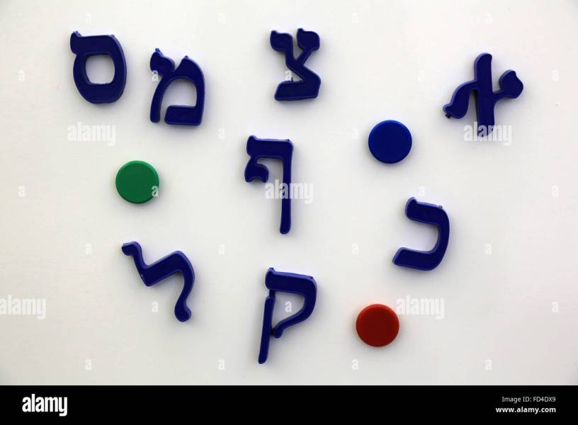 Hebrew Letters Stock Photos   Hebrew Letters Stock Images   Alamy Hebrew letters on a magnetic whiteboard  The Jewish Museum  Vienna    Stock  Image