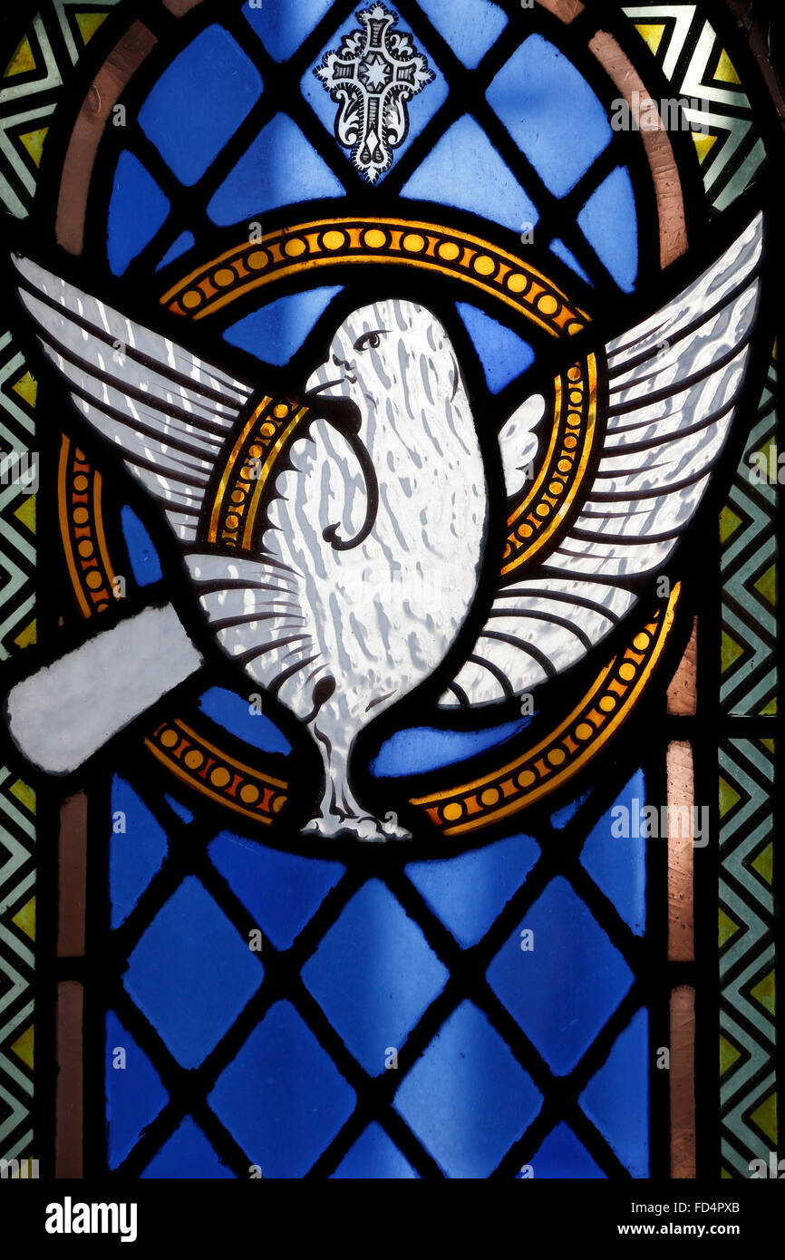 Stained Glass Window Dove Of Peace Stock Photo Royalty