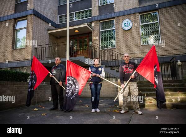 London, UK. 6th October, 2013. Members of Poland's ...