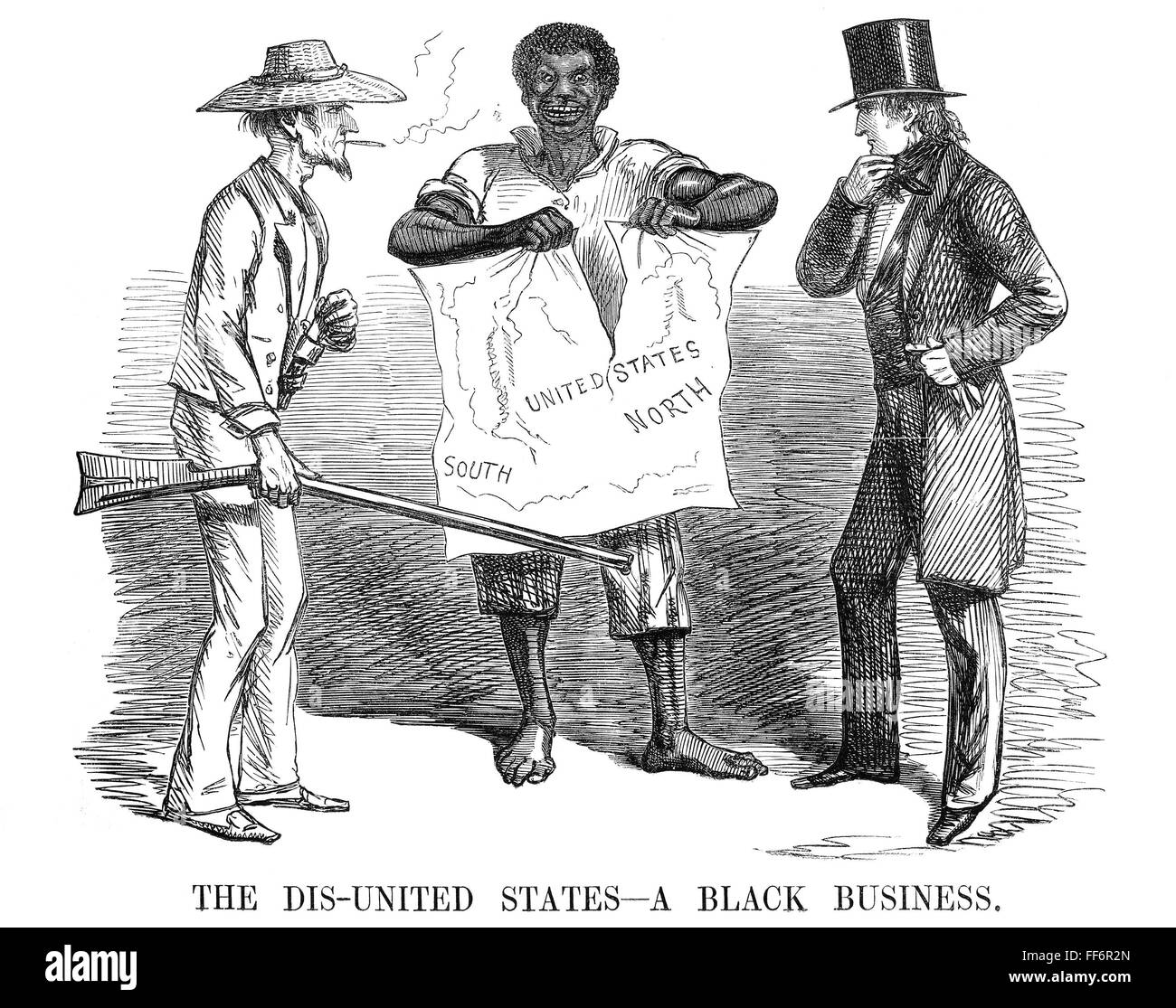 Slavery Cartoon N The Dis United States