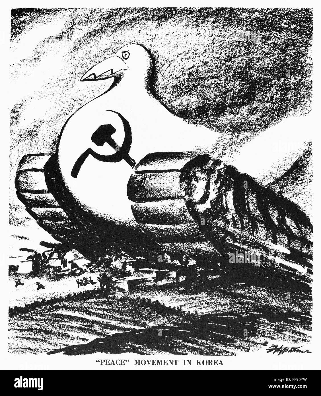 Korean War Cartoon N Peace Movement In Korea