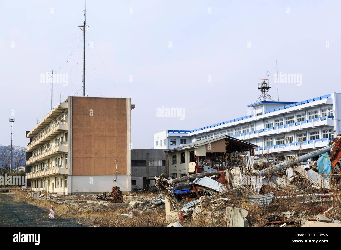 A General View Of The Abandoned Kesennuma Koyo High School