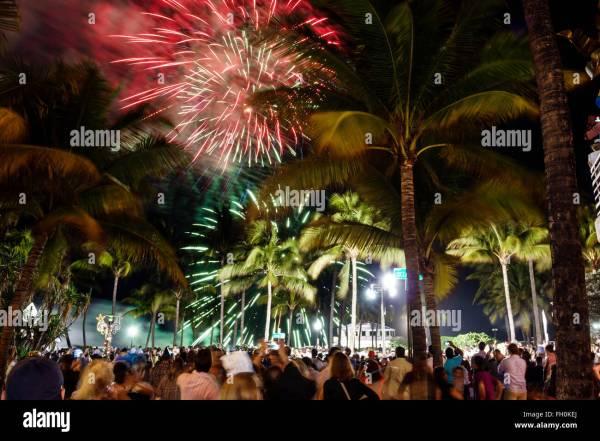 Miami Florida New Years Eve Stock Photos & Miami Florida ...