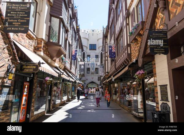 Medieval-styled London Court shopping mall in Perth ...