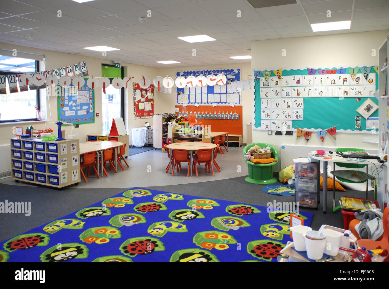 Interior View Of A Nursery Classroom In A New British