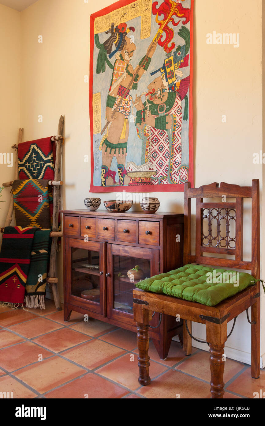 https www alamy com stock photo home interior with traditional american southwest style wood furniture 97537787 html
