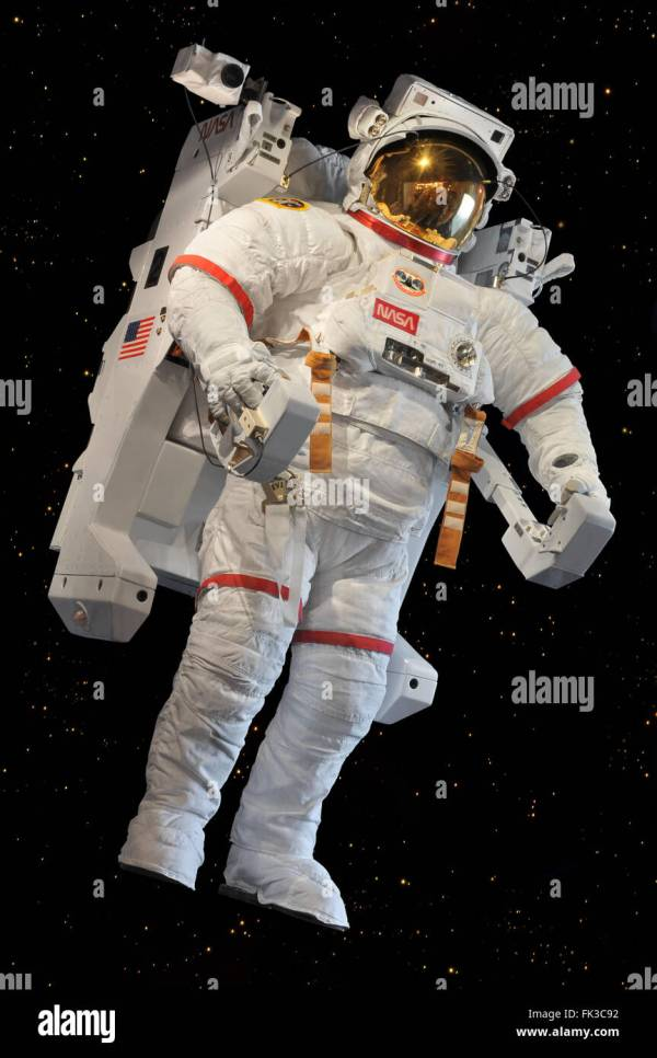 NASA's astronaut in full gear including a jet pack ...