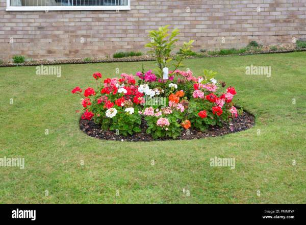 circular flower garden designs Circular Flower Bed Stock Photos & Circular Flower Bed