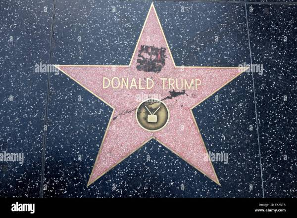 Donald Trump's Star on the Hollywood Walk of Fame, Los ...