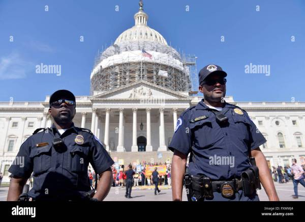 Washington, DC, USA. 18th Apr, 2016. U.S. Capitol Police ...
