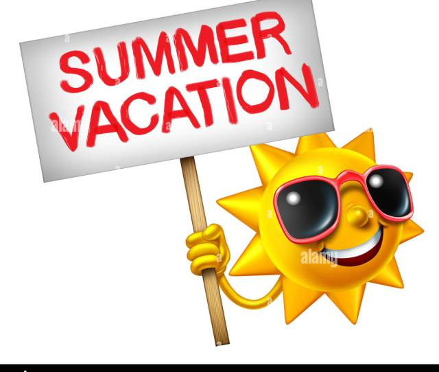 Summer Vacation Symbol As A Hot Sun Character Holding A Sign With Painted Text As A Travel Icon For Relaxing In Summertime As A
