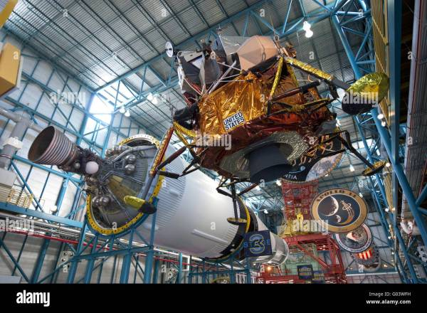 lunar module with saturn v Kennedy Space Center Stock