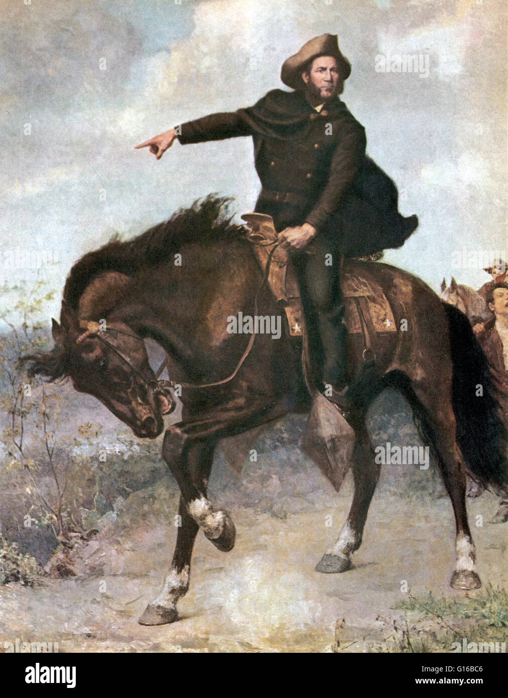 General Sam Houston At The Battle Of San Jacinto In 1836