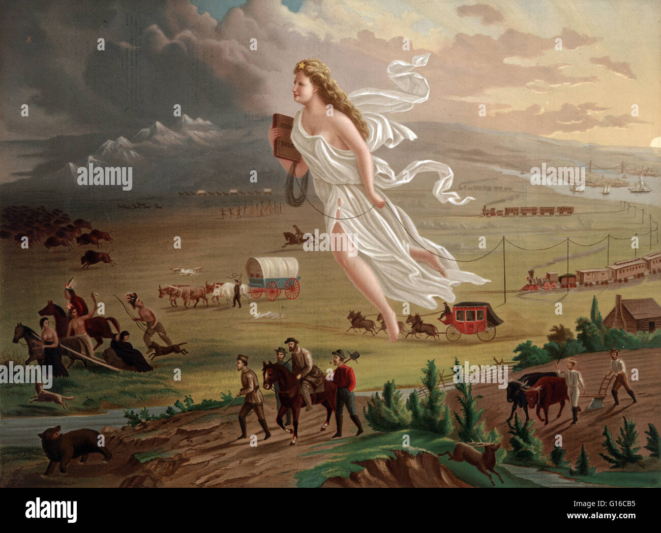 Chromolithograph By George Crofutt Shows An Allegorical