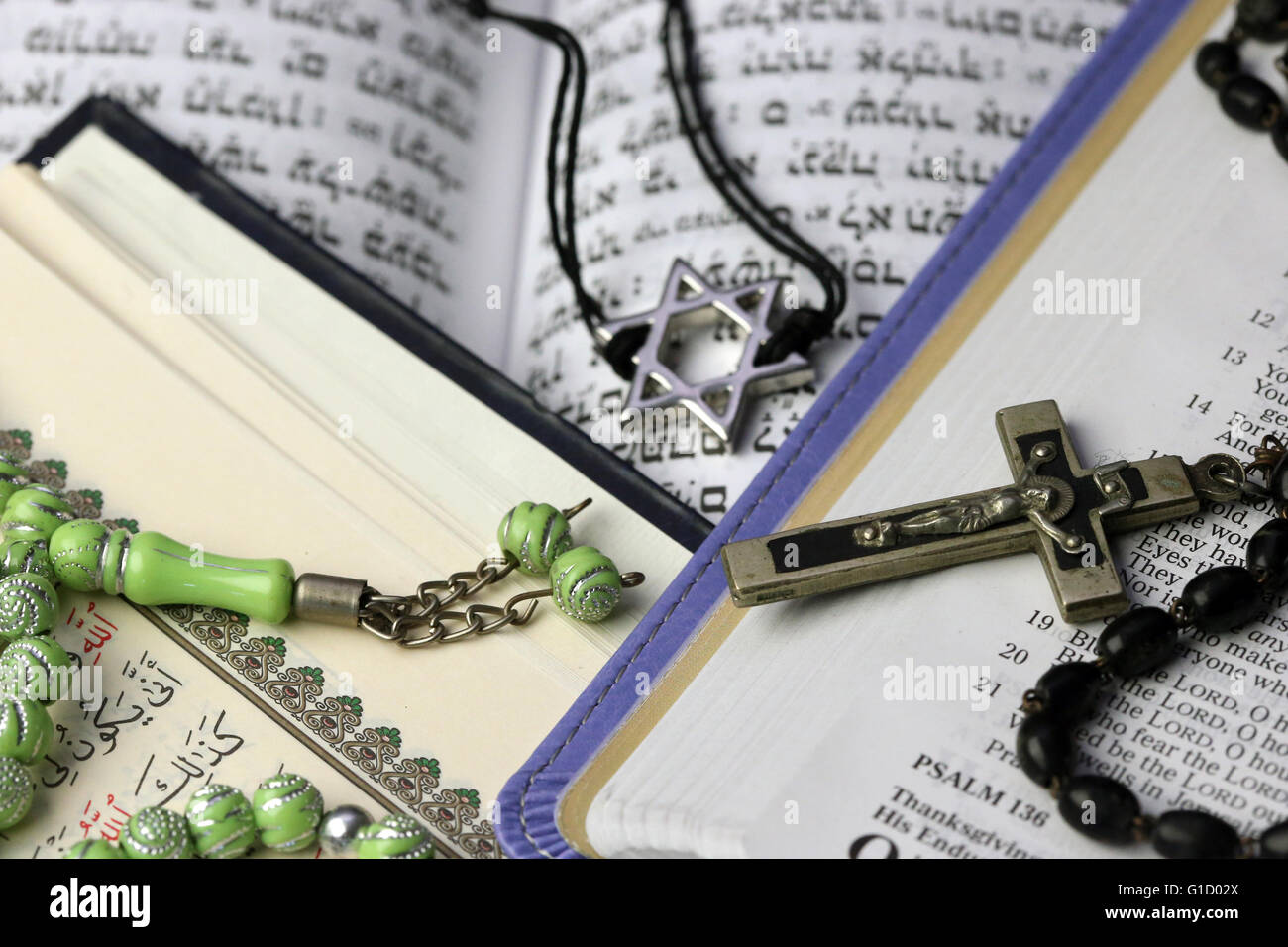 Christianity Islam And Judaism 3 Monotheistic Religions Bible Stock Photo Royalty Free