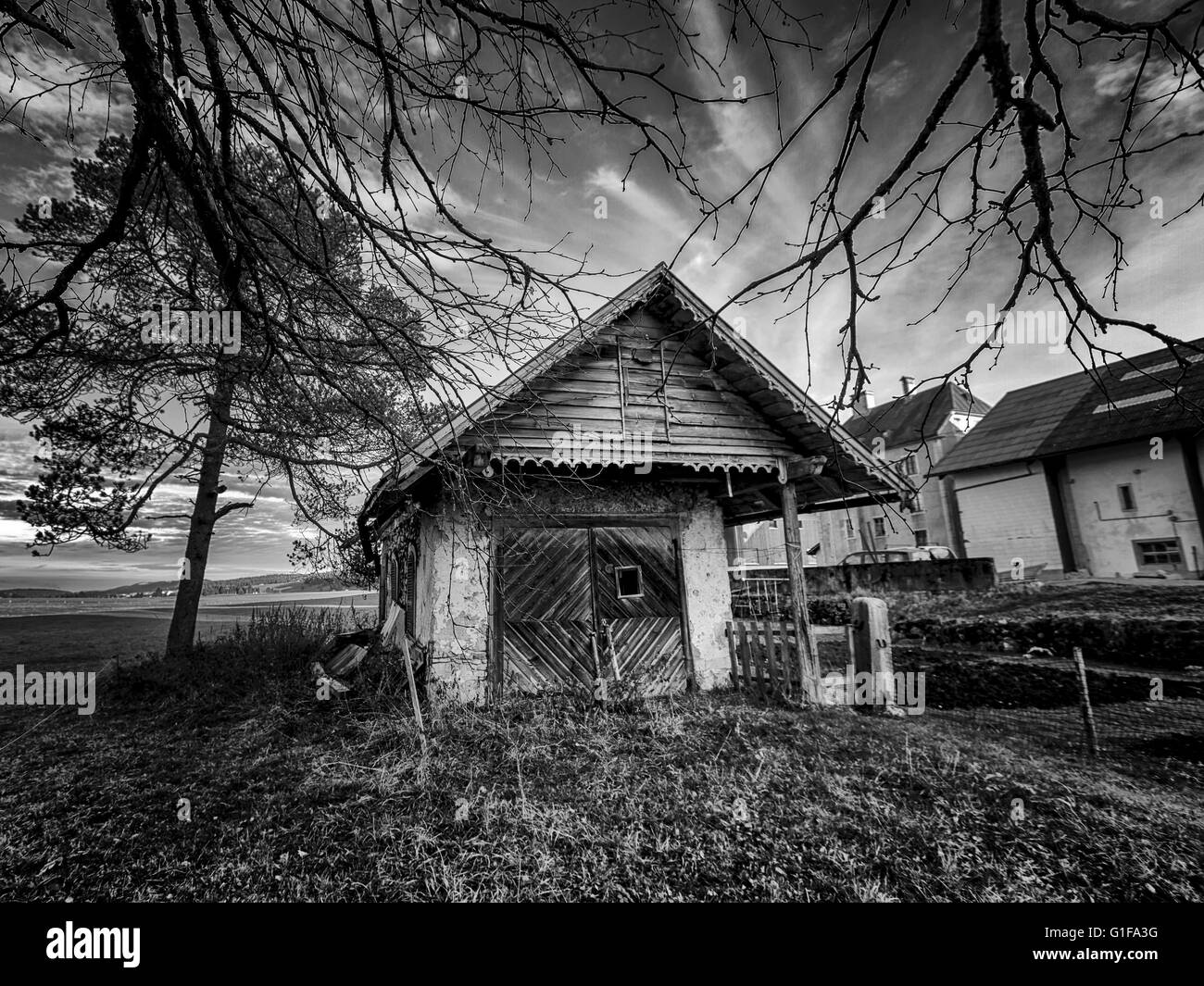 Black And White Cottage High Resolution Stock Photography And Images Alamy