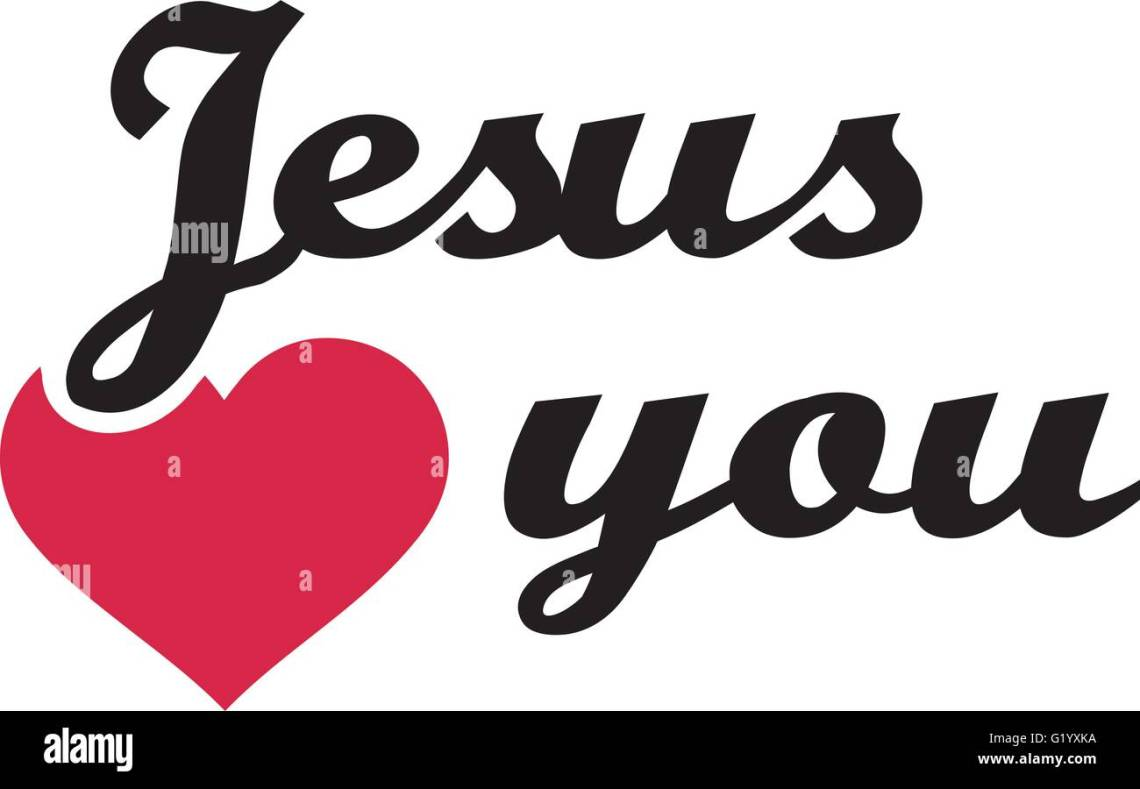Download Jesus loves you Stock Vector Image & Art - Alamy